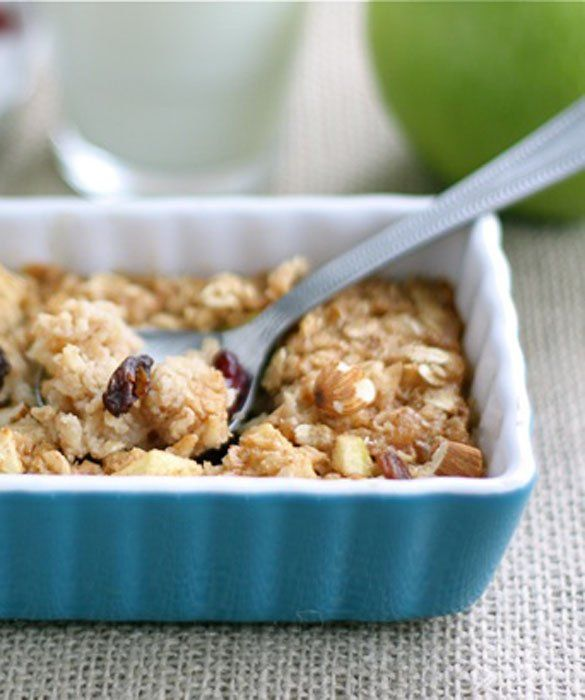 Apple Cinnamon Baked Oatmeal | Oat flour recipes | Pinterest | Apple ...
