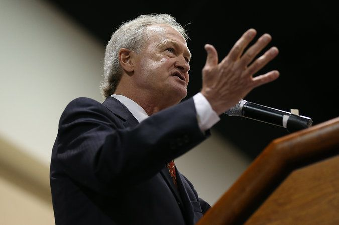 6/3/2015.  Lincoln Chafee, a former Republican, independent and Democrat expected to announce his candidacy for the Democratic nomination in the 2016 presidential election.  A resident of Rhode Island, Mr. Chafee has served as Mayor, Senator and Governor.