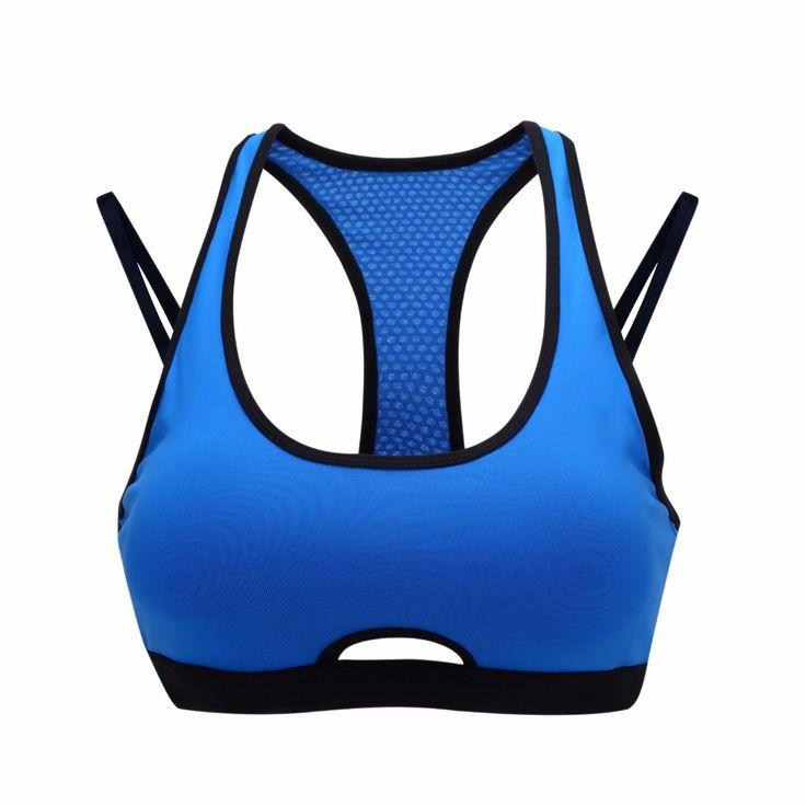 Syprem Women sportswear yoga Sports Bra brassiere Fitness running Gym Vest Seamless Sexy Underwear blue green nylon XS-L,FT0866