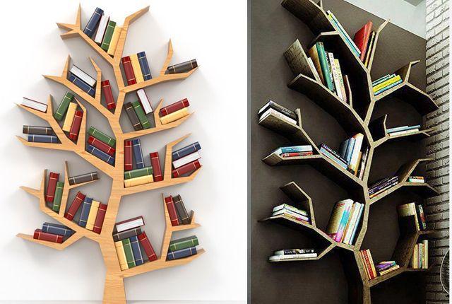 Idei pentru a crea o mini biblioteca arbore in biroul tau!