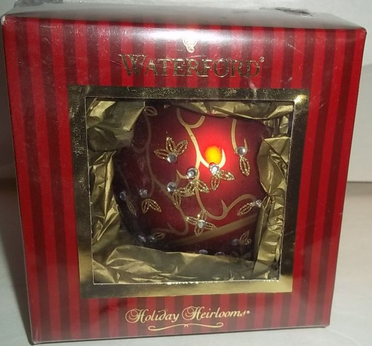 Waterford Jewel Holiday Scroll Ball Christmas Ornament New in Box