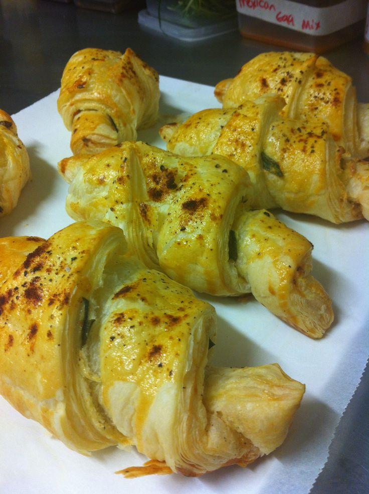 Cream cheese, salmon, caper and lemon crescents!
