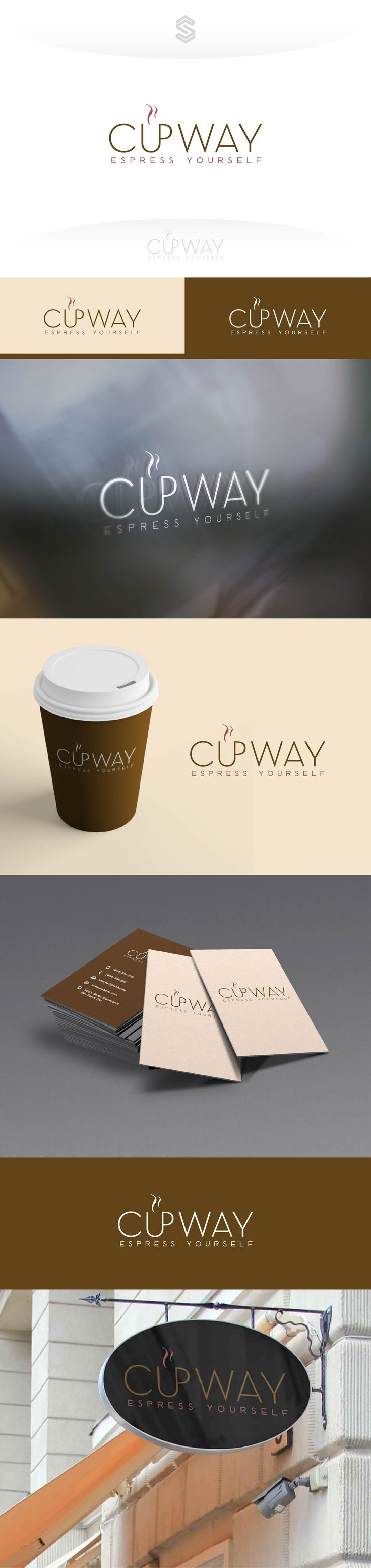 Elegant typographic logo for coffee shop.