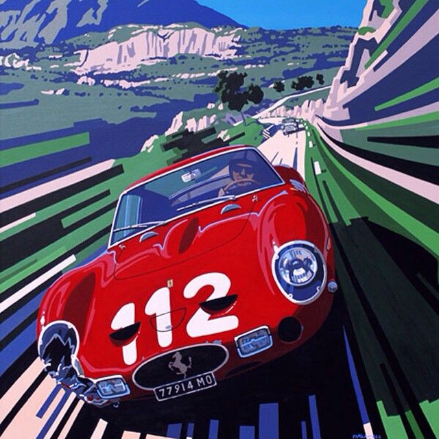 Gorgeous art work from #TimLayzell #ferrari #250GTO via drive_tv's photo on Instagram