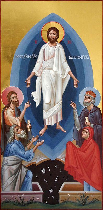 Воскресение Христово. Запрестольный образ верхнего храма