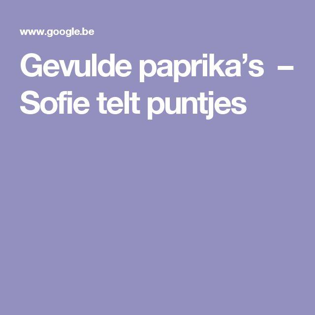 Gevulde paprika's – Sofie telt puntjes