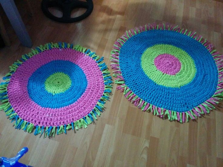 Alfombras infantiles de trapillo mis creaciones - Alfombras redondas infantiles ...