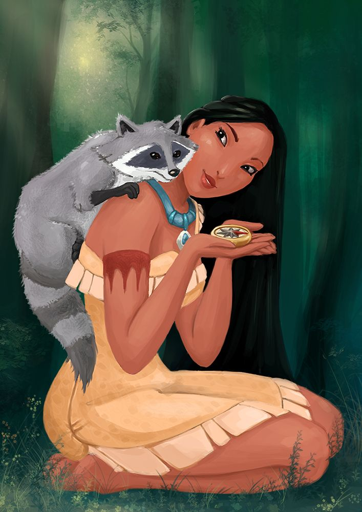 Pocahontas and Meeko by GummyInABox.deviantart.com