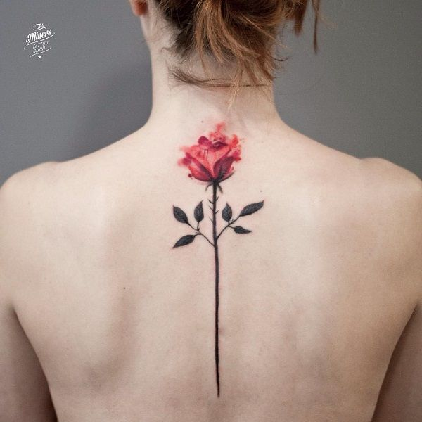Rose back tattoo - 120+ Meaningful Rose Tattoo Designs