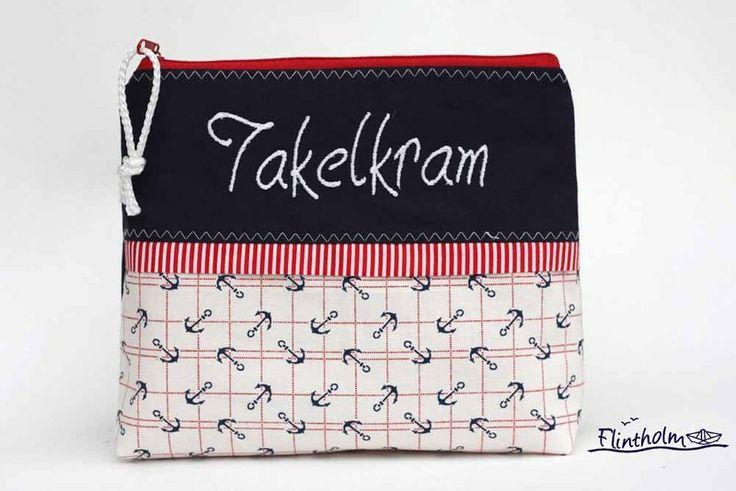 Kosmetiktasche *Takelkram*- Täschchen maritim von FLINTHOLM   auf DaWanda.com