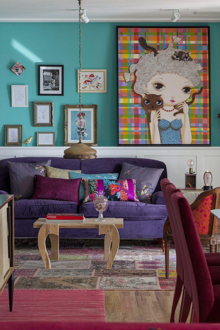Island, Living Room. Cores Para Sala: 85 Ideias Para Combinar Sem Erro Part 80