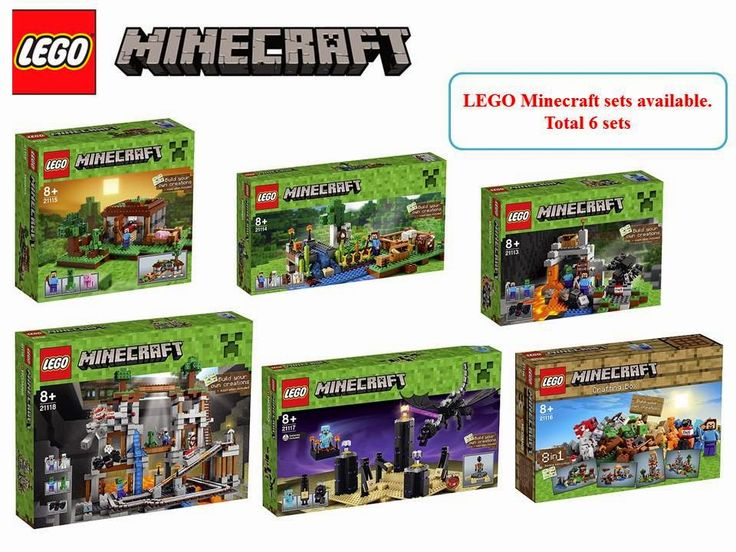 Christmas offer: LEGO Minecraft sets of 6 new arrival. They are:  LEGO® Minecraft - 21118 The Mine LEGO® Minecraft - 21117 The Mine LEGO® Minecraft - 21116 Crafting-Box LEGO® Minecraft - 21115 First Night LEGO® Minecraft - 21114 The FarmC LEGO® Minecraft - 21113 The Cave  If anyone interested, please email to info@brickstoy.com