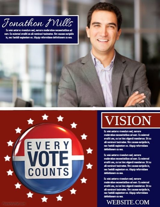 customizable design templates for elections postermywall example