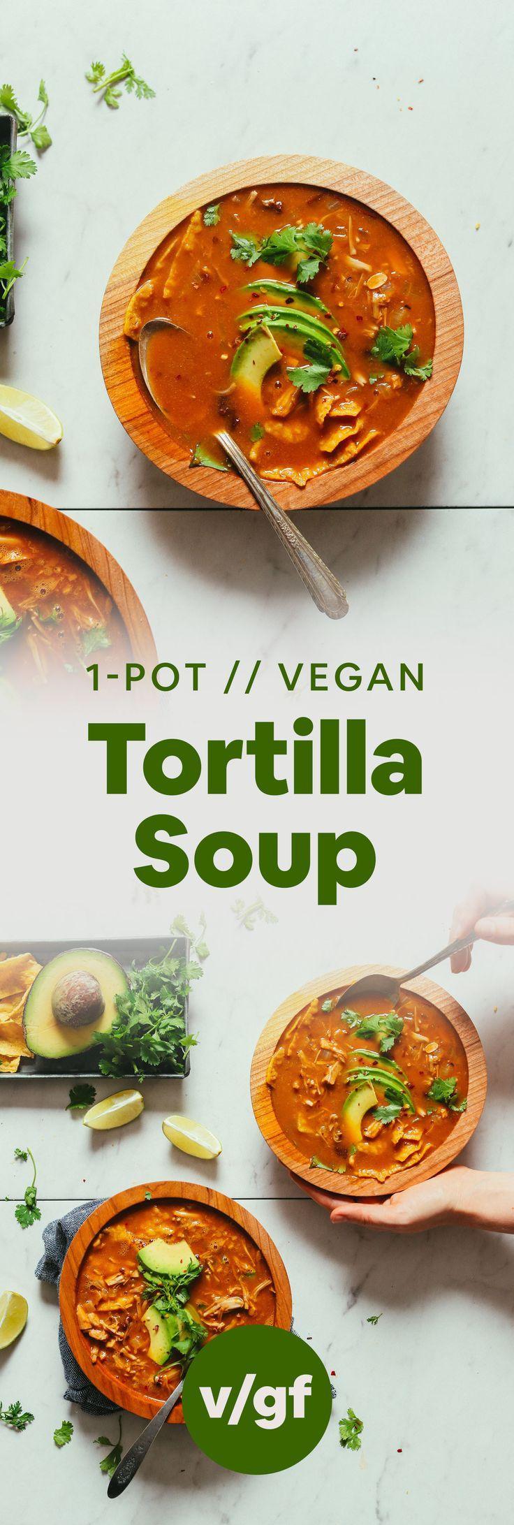 1 Topf vegane Tortillasuppe