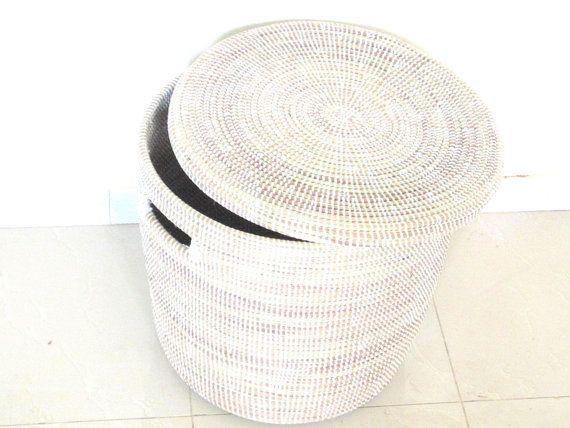 Winter White laundry Basket, Toy Storage Bin, Large Modern Hamper on Etsy, $129.00