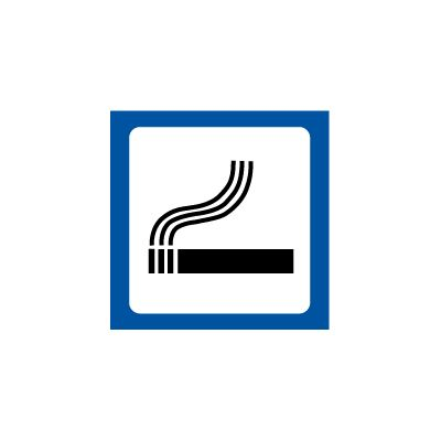 Rygning tilladt - piktogram / symbol - Køb online nu!