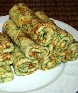 Сырные блинчики с зеленью рецепт с фото