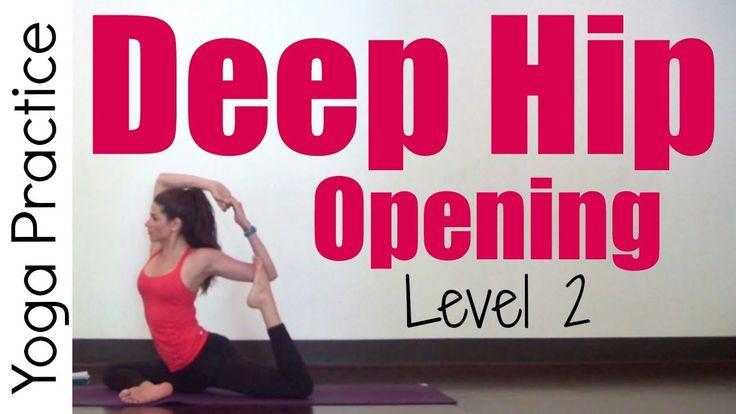 30 Minute Deep Hip Opening Yoga | Level 2 SarahBethYoga