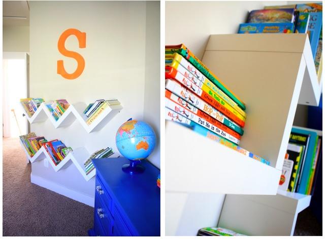 Book shelves from Ikea - via 6th Street Design School: Design School, Awesome Bookshelves, Books Shelves, Cool Bookshelves, Ikea Bookshelves, Bookshelf Ideas, Kids Bookshelves, Girls Rooms, Kids Rooms