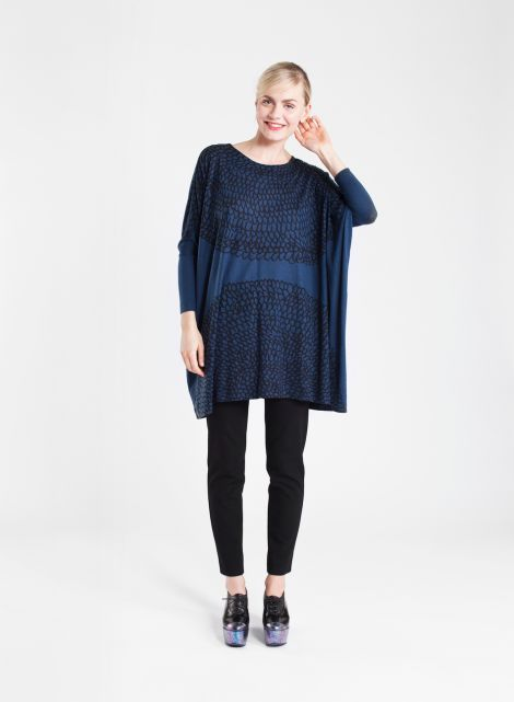 Aletta tunic (dark blue, black) | Clothing, Women, Dresses & skirts | Marimekko