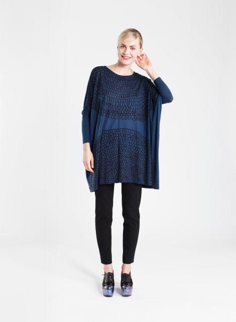 Aletta tunic (dark blue, black)  Clothing, Women, Dresses & skirts   Marimekko