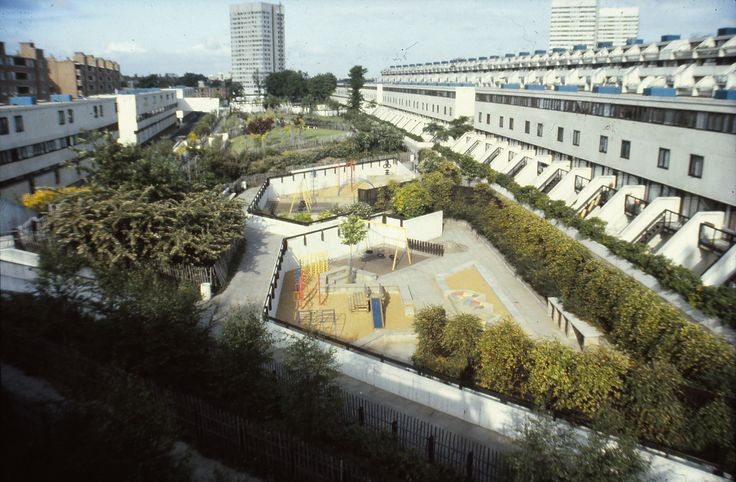 Neave Brown | The park at Alexandra Road as it appeared when it opened in 1981. | Janet Jack landscape architect