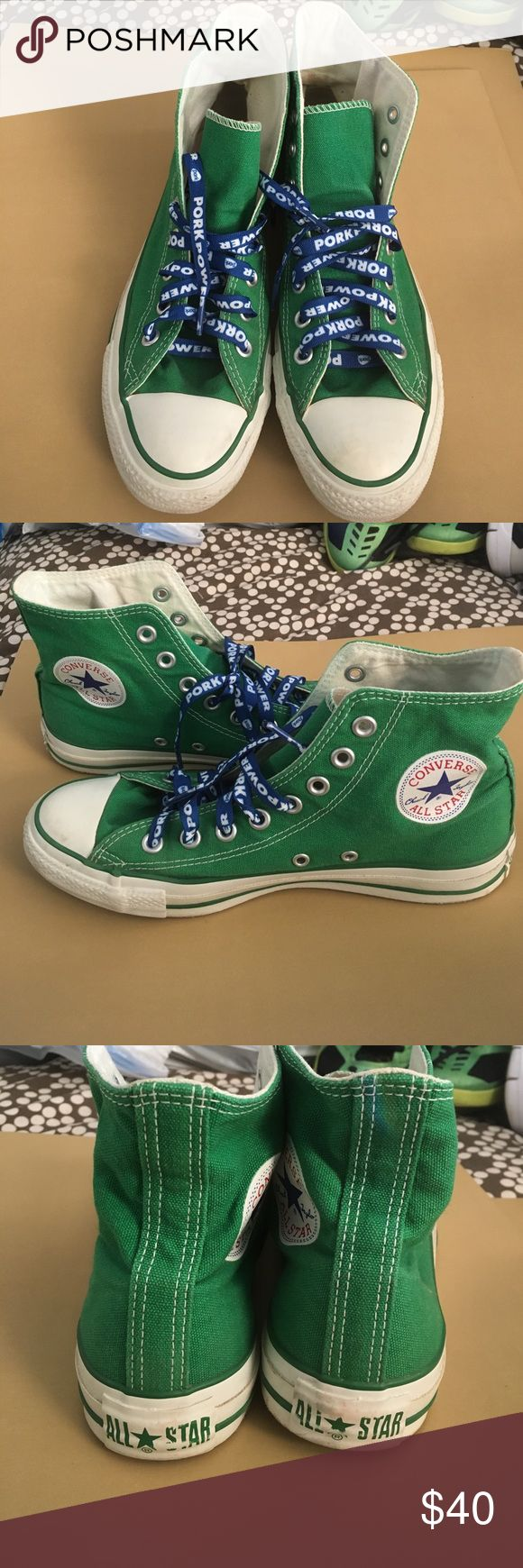 Converse AllStar Chuck Taylor Green Men's 7 WOs 9 Preloved and in excellent shape 💥No Box💥 Converse All Star Shoes Sneakers