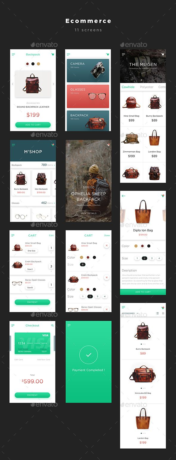 Mugen App UI KIT – Ecommerce - User Interfaces Web Elements