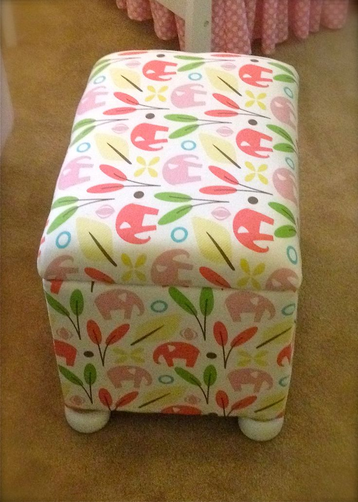 diy storage ottoman - they make it look so easy. Need one for A's room for all the stuffed animals!