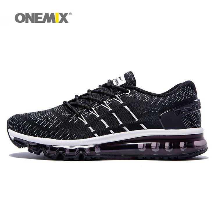 Onemix lidah sepatu baru pria berjalan sepatu unik desain bernapas sepatu olahraga pria athletic luar sneakers zapatos de hombre