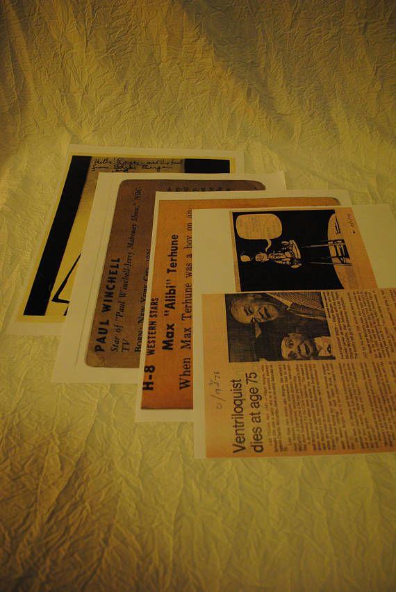 Ventriloquist Edgar Bergen Charlie McCarthy Paul Winchell Max