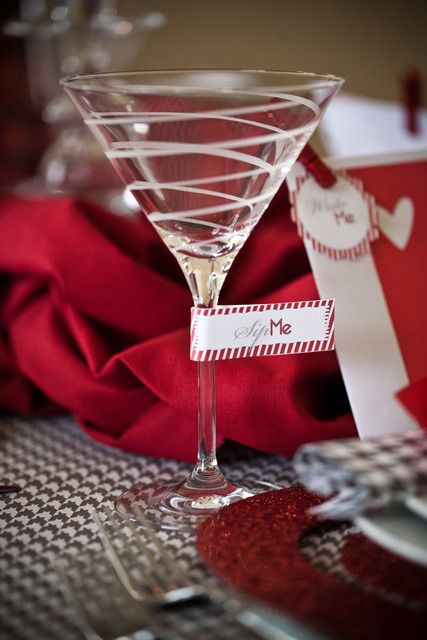 Valentine's Day martini glass