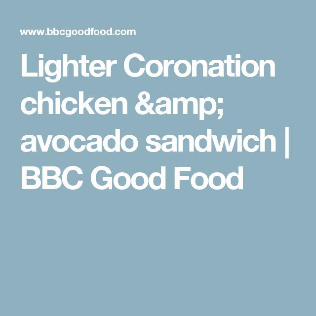 Lighter Coronation chicken & avocado sandwich | BBC Good Food