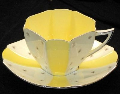 Shelley Queen Anne Pole Star simplyTclub Tea cup and saucer  325.00