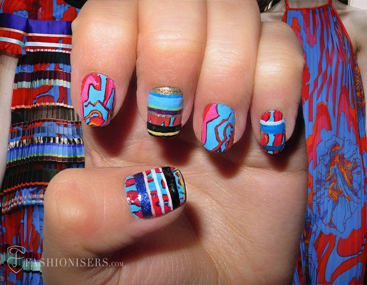 Πανέμορφα νύχια σε χρώματα του Ρομπέρτο Καβάλλι!!!
