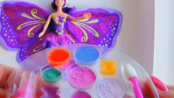 Барби Mariposa! набор помады, тени для век и румяна  Распаковка,обзор