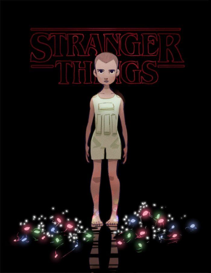"""""""Promise."""" - Eleven from Stranger Things art by Celine Kim"""
