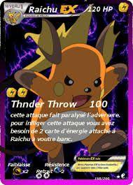 Résultats de recherche d'images pour «carte pokemon raichu ex»