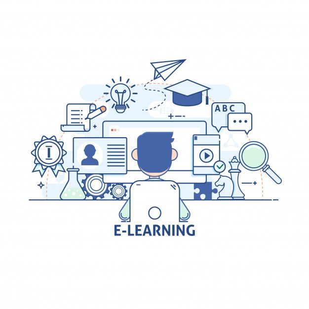 Concept Of Illustration Communications And Technology Modern Education And Learning Research Tutorial Modern Thin Linear Stroke Vector Icons Modern Thin L Learning Logo Elearning Online Learning