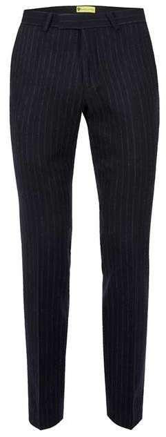 NOOSE & MONKEY Navy Pinstripe Wool Rich Slim Fit Suit Pants