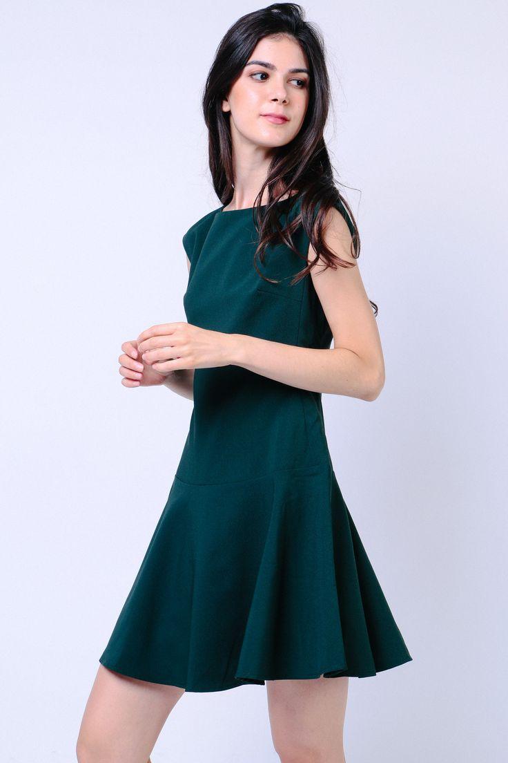 Drop Waist Dress (Green) Image 2