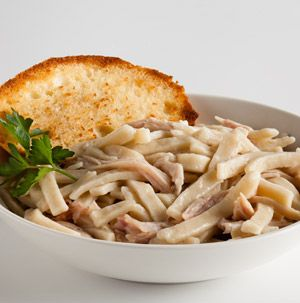 Yes, we know, chicken and noodles can take all day to make. We've figured out a way to make it quickly for weeknights. Don't forget the mashed potatoes!