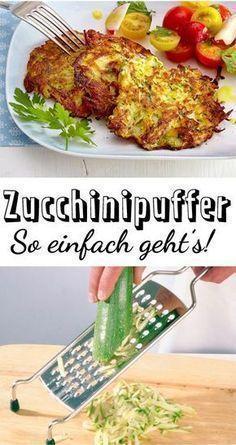 Zucchinipuffer – das einfache Rezept