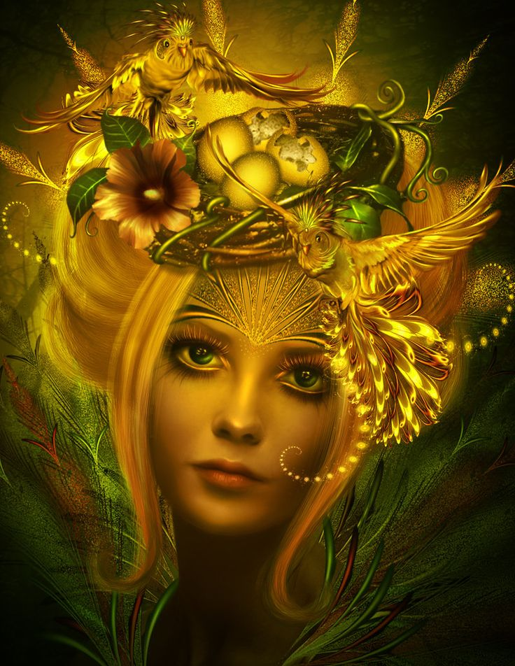 Акварелью, открытка женщина богиня
