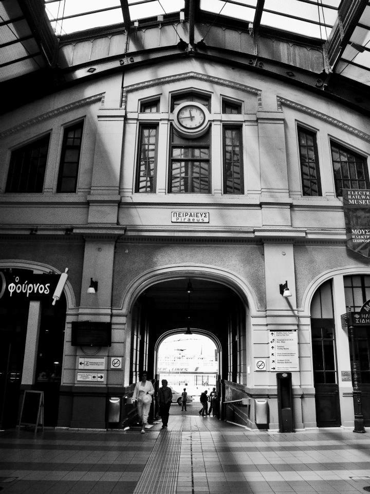 the Piraeus Train Station, Piraeus, Greece