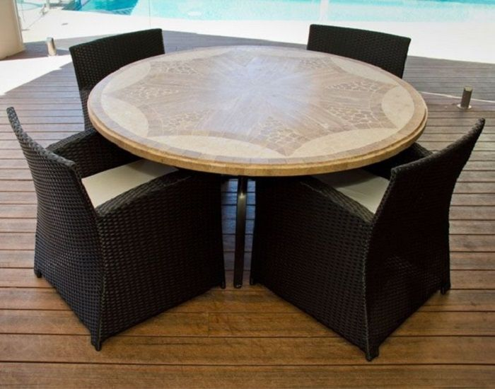 Stone tables are all the rage right now- perfect for patios and just in time for summer! http://www.channelenterprises.com/products/specials/travertine/