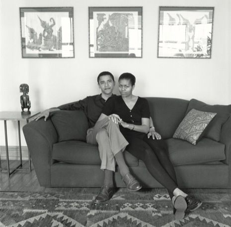 young Obama's. (I have one of those same temple rubbings that they have hanging on their wall!)
