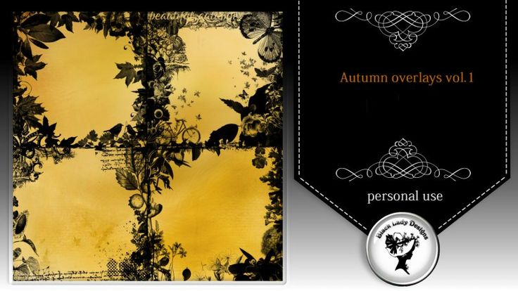 Autumn overlays by Black Lady Designs - $1.80 : ScrapBird!, source for digital scrapbooking