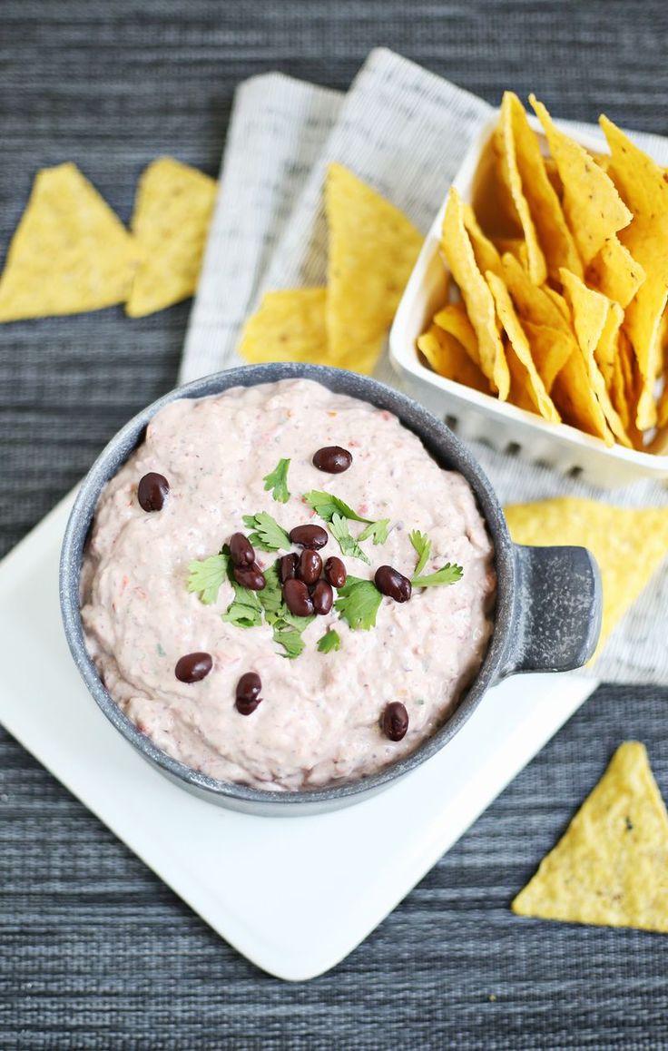 Creamy black bean dip (click through for recipe)
