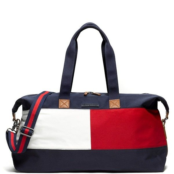 Tommy Hilfiger Signature Weekender ($55) ❤ liked on Polyvore featuring bags, luggage, accessories and bolsa